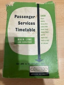 British Railways Southern Passenger Services Timetable and Old 1987 Network Map