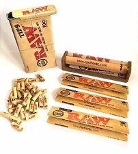 RAW SET - 100 TIPS IN A TIN with RAW 110MM ROLLER and 3 RAW KINGSIZE SLIM PAPERS