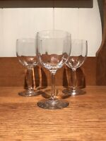 Baccarat Montaigne Crystal Claret Wine Glass Glasses Clear Optic France Set Of 3