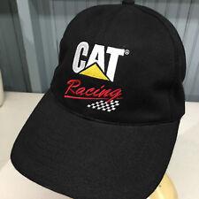 CAT Caterpillar Tractor Racing Strapback Baseball Cap Hat