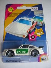 SIKU POLIZEI 1316 PORSCHE 911 TURBO 3,3 G-Modell Typ 930 OVP