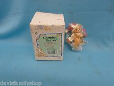 Enesco Cherished Teddies #141232 Bear with Ice Skates 1995 Christmas Ornament