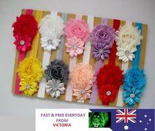 10PCS Girl Newborn Baby Toddler Infant Flower Headband Hair Bow Band Photo Props