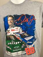 Mens Dale Earnhardt Jr National Guard T Shirt Large Gray 2008 88 Nascar Amp Vtg