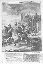 Vecchia BIBBIA antica stampa LUNEBURG da M scheits c1672 Rehab Joshua Incisione