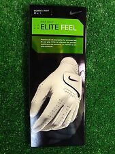 New Womens Right Hand Large Nike Elite Feel White Golf Gloves, 22 cm