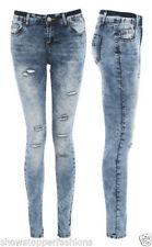 Jeans da donna slim, skinny in denim bassi
