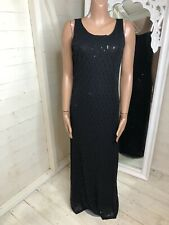SANDWICH Black Sequin Long Maxi Evening Dress XL (12-14)