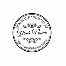 Personalized Custom Made Handle Mounted Rubber Stamp H10