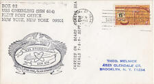 US Ship Cancel Cachet Naval Cover Submarine USS Greenling SSN-614 Sea Trial 1969