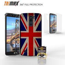 LG K10,LG Premier LTE Clear Slim 360° Full Body Protection Case Cover UNION JACK