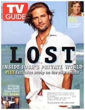 TV Guide October 2-8 2006 Josh Holloway Lost Steve Irwin Battlestar Galactica