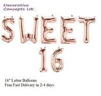 "Girls/Boys Sweet Sixteen 16"" 16th Birthday Party Celebration Decor foil balloons"