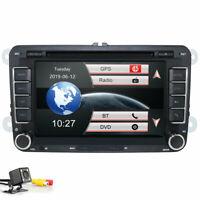 "7"" GPS Sat Nav Radio Car CD DVD Player Bluetooth Stereo for VW T5 Golf V Mk5 Mk6"