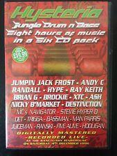 Hysteria 12 Oldskool Jungle Drum n Bass 6 CD rave pack Sanctuary 1996 Rare!