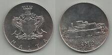 Malta - 1972 Dos Libras Moneda De Plata Unc.