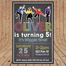 Personalised WIGGLES Kids Party Birthday Invites Invitations DIGITAL - YOU PRINT
