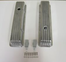 Vintage V8 Chevy 283 305 350 400 Retro Finned Aluminum TALL Valve Covers w bolts