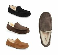 Authentic UGG Men's Ascot Moccasin Slippers 5775 Black Chestnut Espresso shoes
