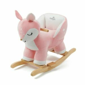 Babylo Rocking Animal With Sound - Deer Pink