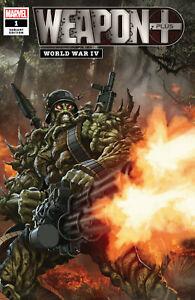 WEAPON PLUS:WORLD WAR IV #1 SKAN VAR  MARVEL COMICS  2019 STOCK IMG
