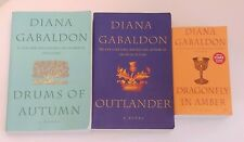 DIANA GABALDON lot x3 PBs:  OUTLANDER Dragonfly in Amber Drums of Autumn