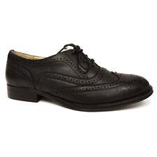 Dolcis Ladies Flat Brogue Shoes Black