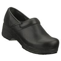 76501 Skechers Women's Work: Tone-ups CLOGS Slip Resistant Leather Black