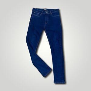 Men's FIRETRAP denim jeans size W23 L33 stretch slim fit blue cotton elastane