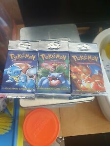 pokemon cards 3 sealed packs original base set