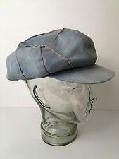 Vintage Denim Patchwork Hat Huggy Bear Dorfman Cabbie Hipster Cap Large USA