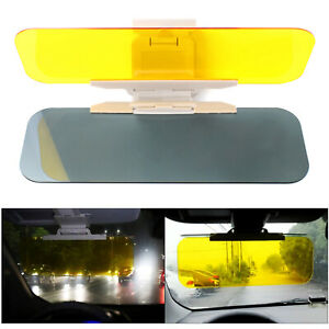 Car Sun Visor Shade Extender Clip on Day and night anti-glare mirror UK