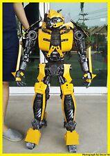 110 CM Bumblebee Transformers Handmade Metal Art Home Pub Decor Collectors