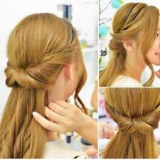 Double Root Hair Elastic Headband,Hair Band Hair Hoop,Adjustable Style Card