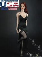 """1//6 Goth Costume Robe Longue Gants Tour De Cou 12/"""" TBL PHICEN Hot Toys figure féminine"""