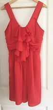CUE WOMENS SUN DRESS LINED KNEE LENGHT MADE IN AU WORK PARTY RED SZ 12