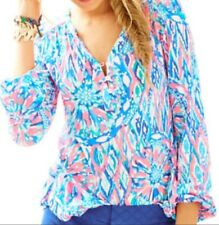 lilly pulitzer tiki pink shake it up print top style 25225 sz xs