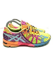 Asics Gel Noosa Tri 9 Athletic Running Shoes Multicolor T458N Women's Size 8.5