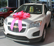 """30"""" Big Pink Magnetic Car Bow - Made In USA"""