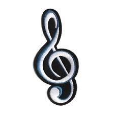 1 Écusson Brodé Thermocollant NEUF ( Patch Embroidered ) - Clef de Sol Musique