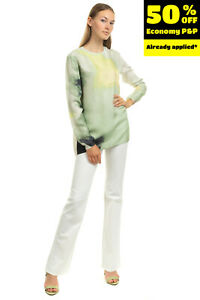 RRP €125 ARMANI JEANS Trousers Size 27 Stretch Logo Details Zip Fly Bootcut Leg