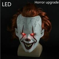 Pennywise Hallowen IT Led Mask From Chapter two scary Clown Movie joker Costume