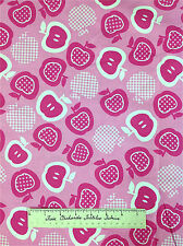 Timeless Treasures Fabric - Pink and White Apple Fruit Slices C8885 YARDS