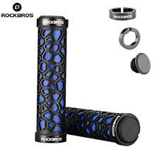 RockBros Double Lock-on Bicycle Handlebar MTB BMX Bike Fixed Grips Blue New