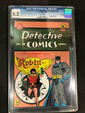 Detective Comics Special Replica Edition #38 1995 CGC 9.2 Reprint 1st Robin