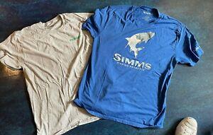 Men's L Large Sage Fly  Fishing T-Shirt Simms Hex Tarpon  Sage Sunset Tarpon