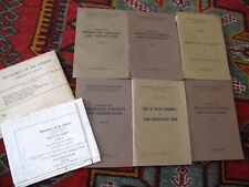 Lot of 7 Canada Irrigation Survey Maps 1915 Ottawa Canals Oldman St. Mary Rivers