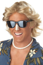 70's Men Blonde Feathered Hair Halloween Costume Wig