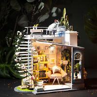 Rolife DIY Holz Puppenhaus Miniatur Zimmer Mini Puppenhaus Geschenk Freundinnen