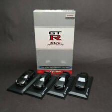 New 1/64 Kyosho Nissan 50th Anni Skyline GT-R R32 R33 R34 Matt Black KS07047B9